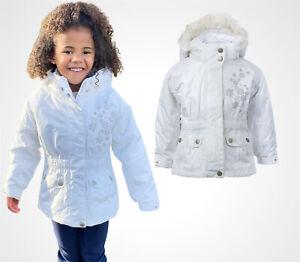 BNWT Girls Kids C&A Waterproof Fur Hooded Warm Gilet  Parka Coat Jacket School