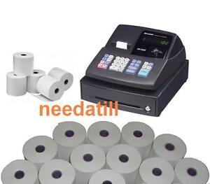 TILL ROLLS - Sharp XE-A102 Black Cash Register Rolls XEA-102 XEA102 XE A 102