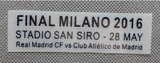 2016 CHAMPIONS Real Madrid VS Atletico Madrid Final Milano Match Details font