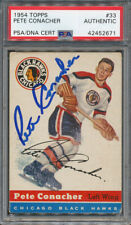 1954/55 Topps #33 Pete Conacher PSA/DNA Certified Authentic Signed *2671