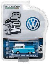 1:64 GreenLight *CLUB V-DUB R4* Blue & White 1968 VW T2 Double Cab Pickup NIP!