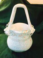 Vintage Glass (art) Basket