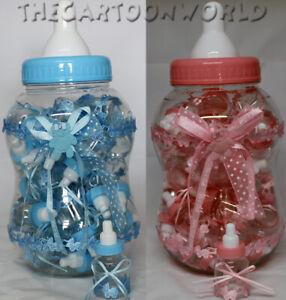 BOMBONIERA ASTUCCIO Scatolina porta confetti 30 Biberon  rosa celeste