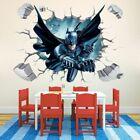 Batman 3d Cartoon 🔥 Wall Stickers Kids Boys Superhero 🔥 Room Home Decor Art