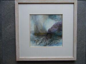 Sue Conrad Abstract Landscape Mystical Hills. Mixed Media.