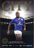 LEICESTER CITY v MAN CITY CAPITAL ONE CUP 2013/14 MINT PROGRAMME MANCHESTER