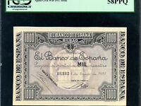 Spain:P-S567,1000 Pesetas,1937 * Civil War * BILBAO *