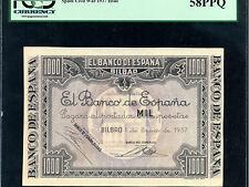 Spain:P-S567,1000 Pesetas,1937 * Civil War * BILBAO *