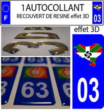 1 adesivo targa auto 3D RESINA BANDIERA NAZIONE BASCO Euskadi 03