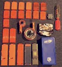 NERF GUN AMMO MAGAZINE LOT 24 ASSORTED MAGAZINES DRUM MAGS AND MORE