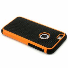 "New Orange Heavy Duty Hard Case Cover + Screen Guard For iPhone 6 / 6S (4.7"")"