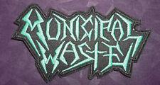 MUNICIPAL WASTE PATCH EMBROIDERED HEAVY METAL THRASH SPEED METAL BIKER PUNK DIY