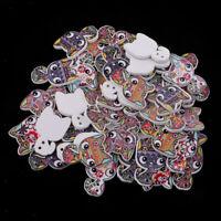 50Pcs Katzen Form Knöpfe für Kinder Kinderknöpfe Holzknöpfe Knopf zum