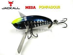 Jackall MEGA Pompadour Floating topwater noisy Cod Surface Lure Black Bone