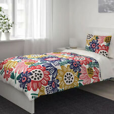 Ikea SOMMARASTER Twin Duvet Cover + 1 Pillowcase Bed Set Bold Rainbow Floral