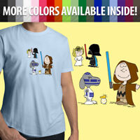Star Wars Peanuts Snoopy Darth Vader BB8 R2D2 Linus Unisex Mens Tee Crew T-Shirt