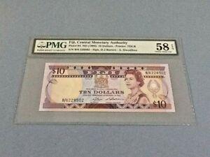 Fiji 10 Dollars P-84 ND(1986)  PMG 58 EPQ