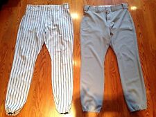 Lot of 2 pairs NY Yankees Rich Monteleone 2008 Throwback Game Used Pants