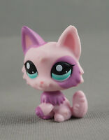 Littlest Pet Shop LPS Toys #2100 Pink Wolf Persian Cat Purple & Pink Ears