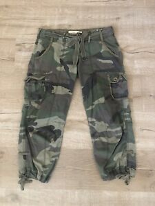 Abercrombie & Fitch Women's Camo Cargo Pants XS Extra Small Camouflage