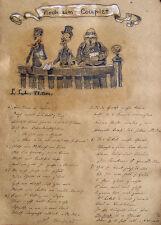 Scheuermann di Miller röbbecke canto COPPIA coro canzone caricatura CILINDRO