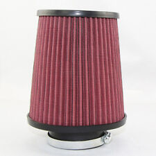"K N Sytle High-flow Air Filter Pod 3""x9"" Clamp-on Round Tapered High Performance"