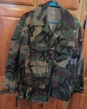 Military Combat Coat, Camouflage Woodland Pattern, Size Medium Regular