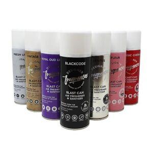 4 x Mixed Designer Fragrances Blast Spray Can Vehicle Car Home Air Freshener New