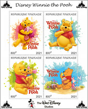 Stamps  Cartoons Disney Togo 2021 year 15 sheets Donald Duck, Winnie the Pooh...