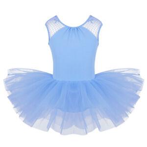 Mädchen Ballett Kleid Tanzkleid Ärmellos Ballettkleid Tanz Body Tutu Röckchen
