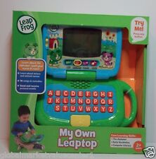 Leap Frog Green my own laptop electronic learning notebook alphabet vocabulary
