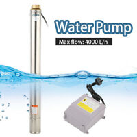 AU 1HP Stainless Steel Submersible Bore Water Pump Deep Well Irrigation 66M Lift