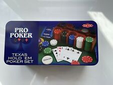 Tactic Pro Poker - Texas Hold'em Poker Set in a Tin Card Game