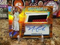 🔥NORRIS COLE SPECTRA HOLO 3 COLOR GAME WORN PATCH ON CARD AUTO /25 PELICANS🔥