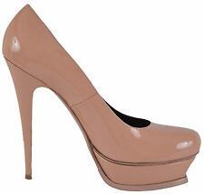 New YSL Yves Saint Laurent Patent Leather Tribtoo Platform Pumps Shoes 41 11