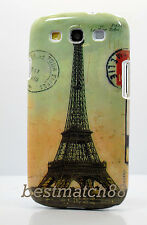 for Samsung galaxy  s3  hard case Paris Eiffel tower post card retro i9300 /S II