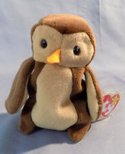 TY Beanie Baby HOOT the owl Retired 1995 with Errors on tag