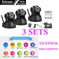 3 OEM Set of Sricam 720P Wireless IP Camera WiFi Security Night Vision Cam E1