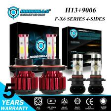 4Sides H13+9006 LED Headlight Fog Combo Bulbs for Dodge Ram 1500 2500 3500 06-09