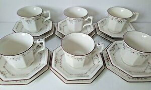Vintage 6 Trios Cup/Saucer/Side Plate Madison -Afternoon Tea - Johnson Bros 18pc