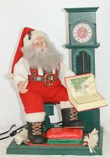 1993 Holiday Creations Santa Story Cassette Audio Grandfather Clock Night Before