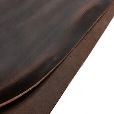 Tooling Leather Thick Cowhide Skin Crazy Horse Crafting Arts Leather Brown