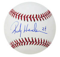 Rickey Henderson (A's /Athletics) Signed Rawlings Official MLB Baseball -PSA/DNA