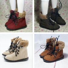 1/4 1/3 BJD Shoes Nubuck Leather Boots Plush Top Line for Boy Doll Multi-colors
