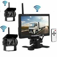 """2 Rear Cam Wireless Car Reversing Camera Kit + 7"""" TFT LCD Monitor 12V 24V"""