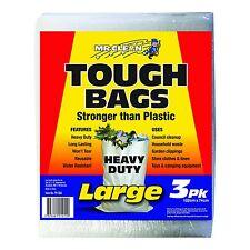 Mr Clean GARBAGE TOUGH BAGS 122x74cm LARGE, 3Pcs Stronger Than Plastic USA Brand