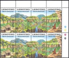 Lesotho 1989 Maloti Mountains/Waterfall/Aloes/Plants/Nature 4v s-t blk (n17062)