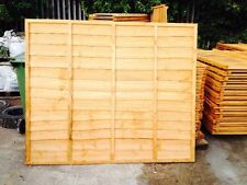 Wooden Fence Heavy Duty Lap Panel 6ft x3ft Fully framed 5 bars BARGAIN