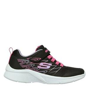 Skechers Kids Girls Microspec Runners Child Padded Ankle Collar Touch and Close