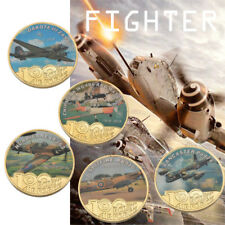 WR Fighter Model Aerial Flight Aircraft Collection Commemorative Coin 5pcs Set